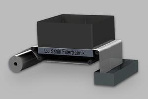 Pressure belt filter