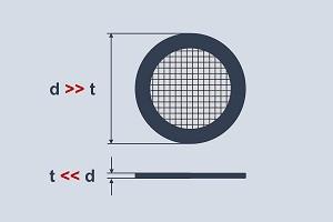 Filterronde aus Edelstahl, Stahl, Aluminium mit Filtergewebe, Filtervlies