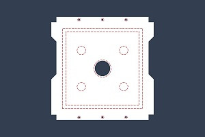 Filtertuchapplikationen tropfdichte Ausführung Lochkranzverstärkung Randabdichtung Filzdichtrand Noppenverstärkung Messingösen Edelstahlösen