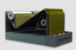 Inclined bed belt filter