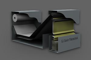 Vacuum belt filter